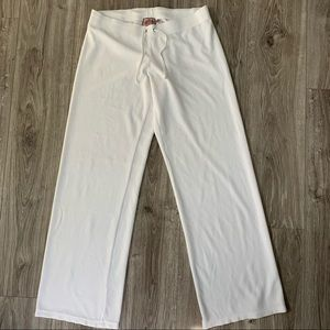 JUICY COUTURE Velour Pants White Size Large